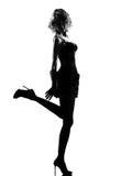 Donna alla moda della siluetta fotografie stock libere da diritti