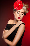 Donna alla moda elegante Immagine Stock