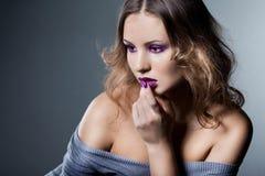 Donna alla moda elegante Fotografie Stock Libere da Diritti