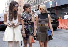 Donna alla moda a New York immagine stock libera da diritti