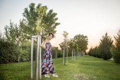 Donna alla moda vestita 2 Fotografia Stock