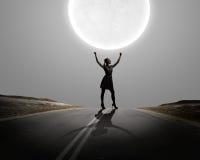 Donna alla notte Fotografia Stock