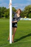 Donna allegra Fotografie Stock