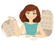 Tempo di Caffee royalty illustrazione gratis