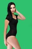 Donna allegra sexy Fotografie Stock Libere da Diritti