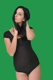 Donna allegra sexy Immagini Stock Libere da Diritti