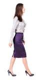 Donna ambulante di affari Immagine Stock