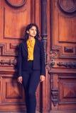 Donna americana dell'indiano orientale dei giovani a New York Immagine Stock Libera da Diritti