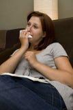 Donna ammalata Fotografie Stock