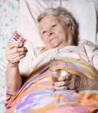 Donna ammalata anziana Immagine Stock Libera da Diritti
