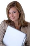 Donna & calcolatore fotografie stock libere da diritti
