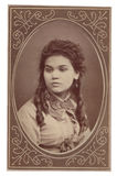 Donna antica del ritratto della fotografia immagine stock libera da diritti