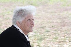 Donna anziana Fotografie Stock Libere da Diritti