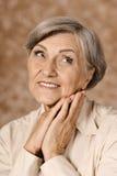 Donna anziana adorabile fotografia stock