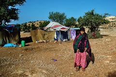 Donna anziana beduina immagini stock