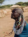 Donna anziana del masai. fotografia stock libera da diritti