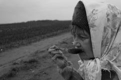 Donna anziana del paese Immagine Stock Libera da Diritti