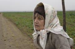 Donna anziana del paese Fotografie Stock Libere da Diritti