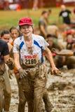 """donna anziana del 21th †annuale di Marine Mud Run """" Fotografia Stock"""