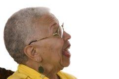 Donna anziana dell'afroamericano Fotografie Stock