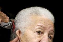 Donna anziana dell'afroamericano Immagini Stock