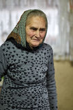 Donna anziana dell'agricoltore dell'interno Fotografia Stock