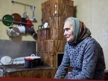 Donna anziana dell'agricoltore dell'interno Fotografia Stock Libera da Diritti