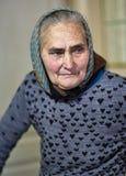 Donna anziana dell'agricoltore dell'interno Immagini Stock Libere da Diritti