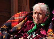 Donna anziana dell'nativo americano immagini stock libere da diritti