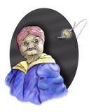 Donna anziana magica Immagine Stock