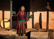 Donna anziana nel Nepal Fotografia Stock