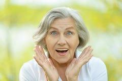 Donna anziana piacevole Fotografie Stock Libere da Diritti