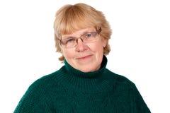 Donna anziana reale Fotografie Stock