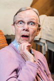Donna anziana sorpresa Fotografia Stock Libera da Diritti