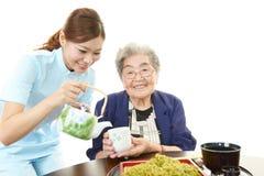 Donna anziana sorridente Immagine Stock Libera da Diritti