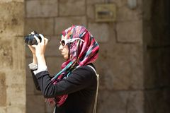 Donna araba Fotografia Stock