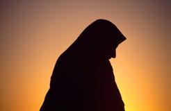 Donna araba con il velare Fotografia Stock Libera da Diritti