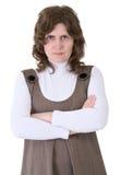 Donna arrabbiata del ritratto Fotografie Stock Libere da Diritti