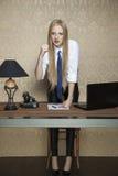 Donna arrabbiata di affari Fotografie Stock
