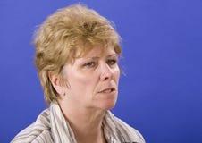 Donna arrabbiata mezza Fotografia Stock Libera da Diritti