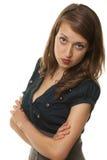 Donna arrogante elegante Fotografia Stock