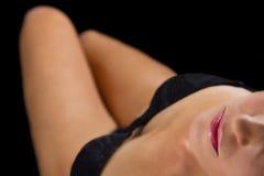 Donna artistica di conversione con la biancheria intima Fotografie Stock Libere da Diritti