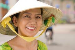 Donna asiatica allegra Fotografia Stock