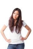 Donna asiatica arrabbiata fotografie stock libere da diritti