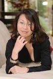 Donna asiatica attraente Fotografia Stock