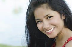 Donna asiatica bella giovane Fotografie Stock