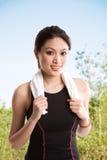 Donna asiatica in buona salute Immagini Stock Libere da Diritti