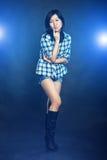 Donna asiatica in camicia Immagini Stock Libere da Diritti