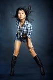 Donna asiatica in camicia Fotografia Stock Libera da Diritti