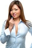 Donna asiatica che flirta Immagine Stock Libera da Diritti